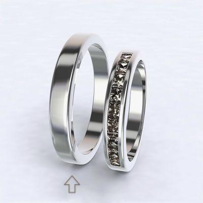 Pánský snubní prsten Nazareth bílé zlato 14kt