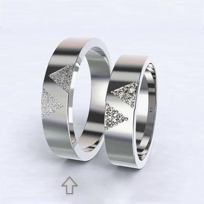 Pánský snubní prsten Agapé bílé zlato 14kt