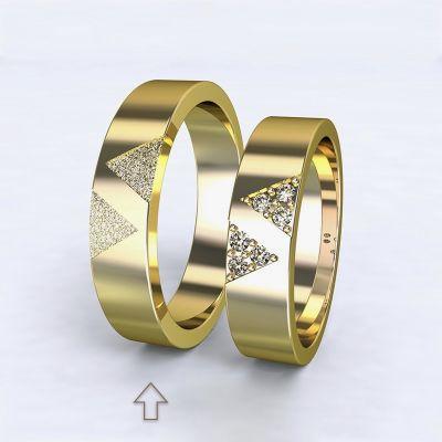 Pánský snubní prsten Agapé žluté zlato 14kt