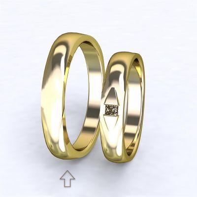 Pánský snubní prsten Ancona žluté zlato 14kt