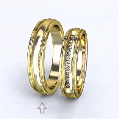 Pánský snubní prsten Avignon žluté zlato 14kt