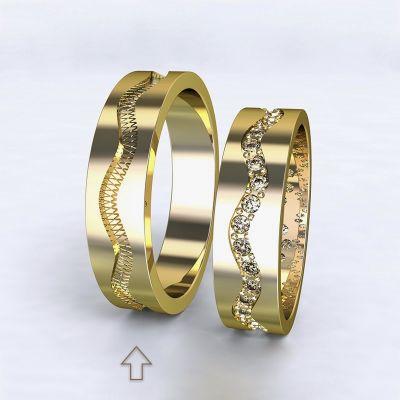 Pánský snubní prsten Cannes žluté zlato 14kt