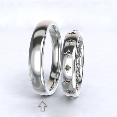 Pánský snubní prsten Cherish bílé zlato 14kt