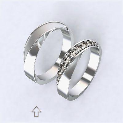 Pánský snubní prsten Chiara bílé zlato 14k
