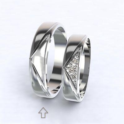 Pánský snubní prsten Fantasia bílé zlato 14kt