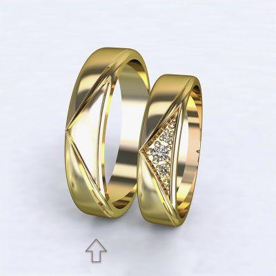 Pánský snubní prsten Fantasia žluté zlato 14kt