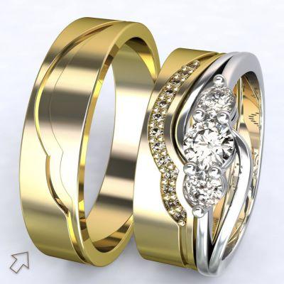 Pánský snubní prsten Florencie žluté zlato 14kt
