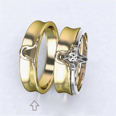 Pánský snubní prsten Lausanne žluté zlato 14kt