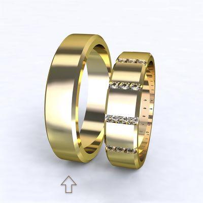 Pánský snubní prsten Legend žluté zlato 14kt
