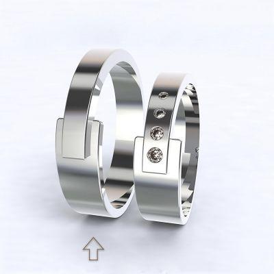 Pánský snubní prsten Loira bílé zlato 14k