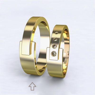 Pánský snubní prsten Loira žluté zlato 14k