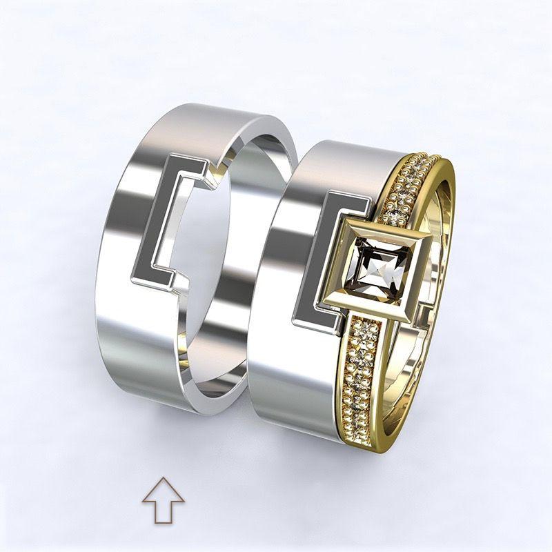 Pánský snubní prsten Marco bílé zlato 14kt