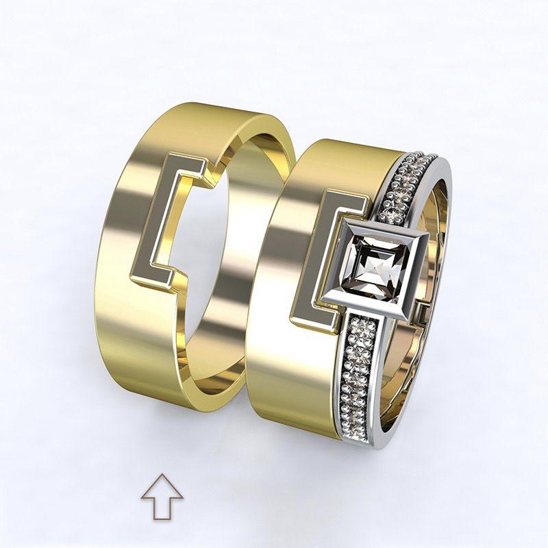 Pánský snubní prsten Marco žluté zlato 14kt