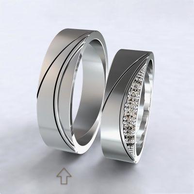 Pánský snubní prsten Moon Light bílé zlato 14kt