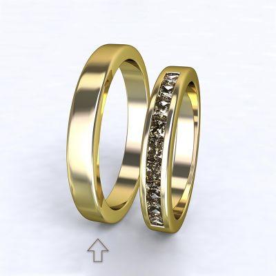 Pánský snubní prsten Nazareth žluté zlato 14kt