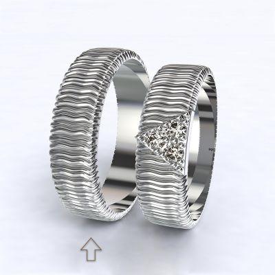 Pánský snubní prsten Nice bílé zlato 14kt