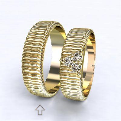 Pánský snubní prsten Nice žluté zlato 14kt