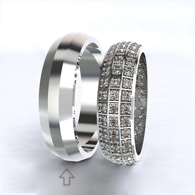 Pánský snubní prsten Paris bílé zlato 14kt