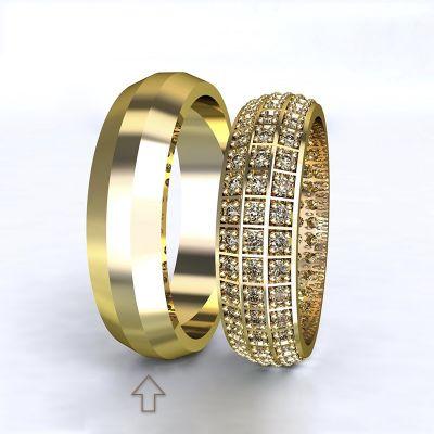 Pánský snubní prsten Paris žluté zlato 14kt