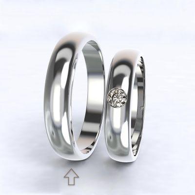 Pánský snubní prsten Polibek bílé zlato 14kt