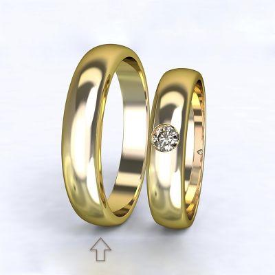Pánský snubní prsten Polibek žluté zlato 14kt