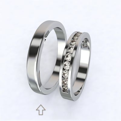 Pánský snubní prsten Precious bílé zlato 14kt