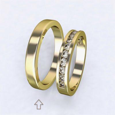 Pánský snubní prsten Precious žluté zlato 14kt