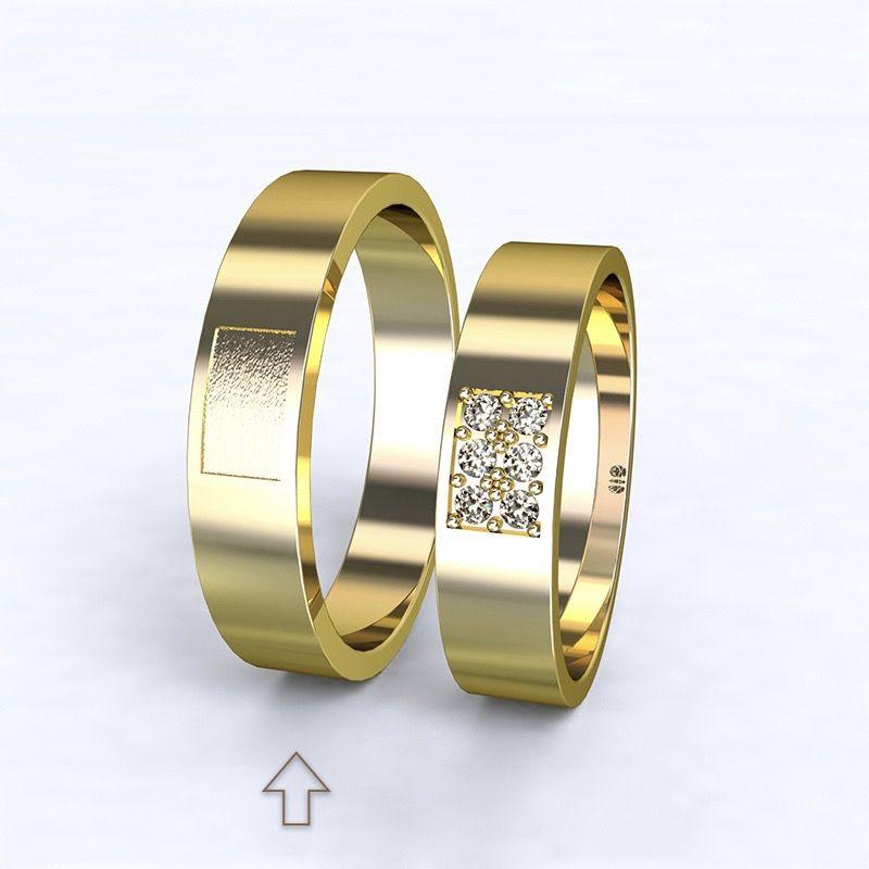Pánský snubní prsten Purity žluté zlato 14kt