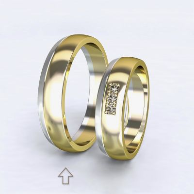 Pánský snubní prsten Rhôna bílé/žluté zlato 14kt