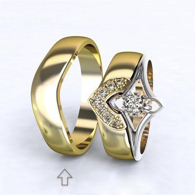 Pánský snubní prsten Roma žluté zlato 14kt