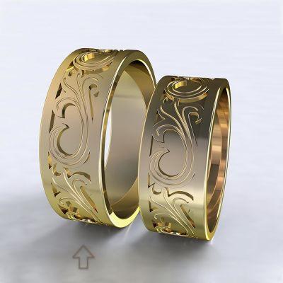 Pánský snubní prsten Romeo & Julie žluté zlato 14kt