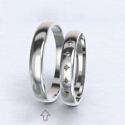 Pánský snubní prsten Special Moment bílé zlato 14kt