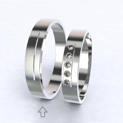 Pánský snubní prsten Terni bílé zlato 14kt