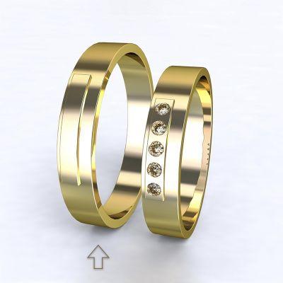 Pánský snubní prsten Terni žluté zlato 14kt
