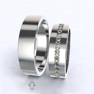 Pánský snubní prsten The Four Seasons bílé zlato 14kt