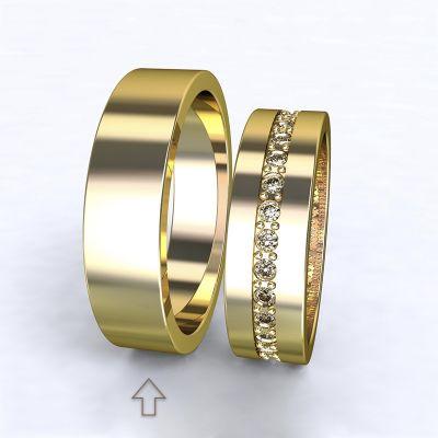 Pánský snubní prsten The Four Seasons žluté zlato 14kt
