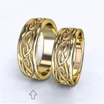 Pánský snubní prsten Tiberia žluté zlato 14kt