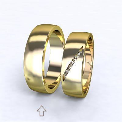Pánský snubní prsten Trento žluté zlato 14kt