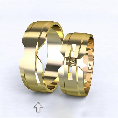 Pánský snubní prsten Venezia žluté zlato 14kt