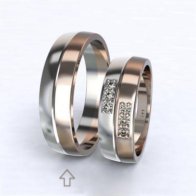 Pánský snubní prsten Verona bílé/růžové zlato 14kt