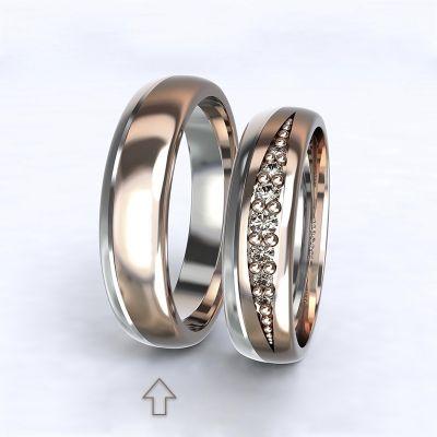 Pánský snubní prsten Versailles bílé/růžové zlato 14kt