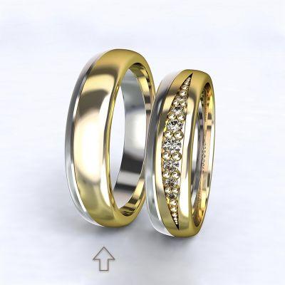 Pánský snubní prsten Versailles bílé/žluté zlato 14kt