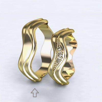Pánský snubní prsten Yafo žluté zlato 14k