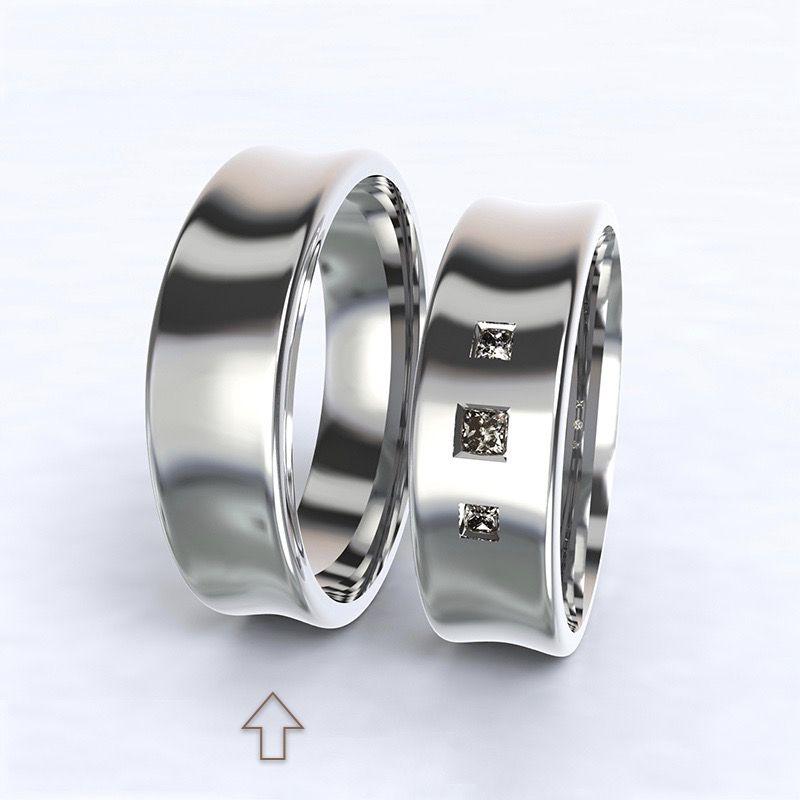 Pánský snubní prsten Dijon bílé zlato 14kt
