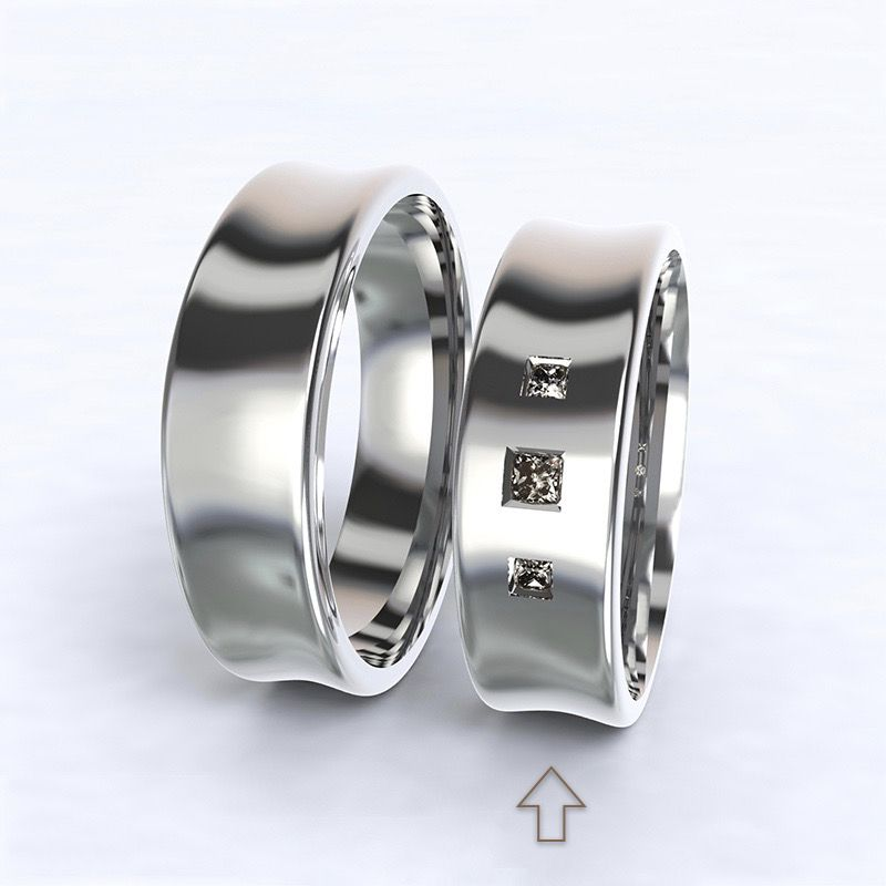 Dámský snubní prsten Dijon bílé zlato 14kt s diamanty