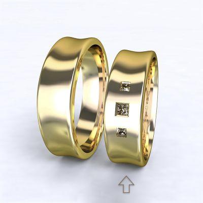 Dámský snubní prsten Dijon žluté zlato 14kt s diamanty