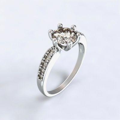 Prsten Dorkas bílé zlato 14kt s diamanty