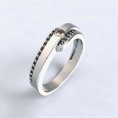 Prsten Erika - bílé zlato 14kt s diamanty
