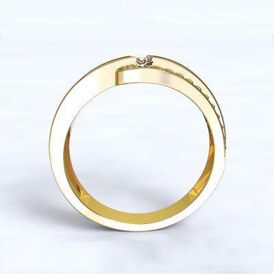 Prsten Erika - žluté zlato 14kt s diamanty