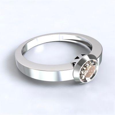Prsten Larisa bílé zlato 14kt s diamantem
